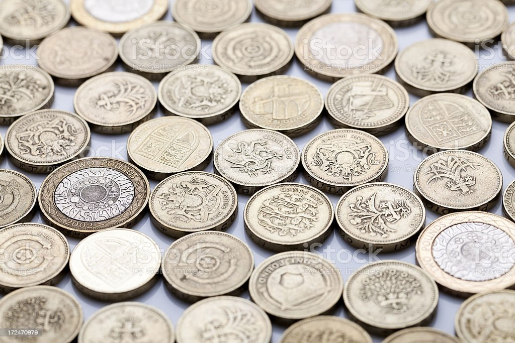 Pound coin background royalty-free stock photo