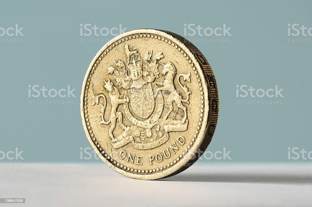 pound coin stock photo