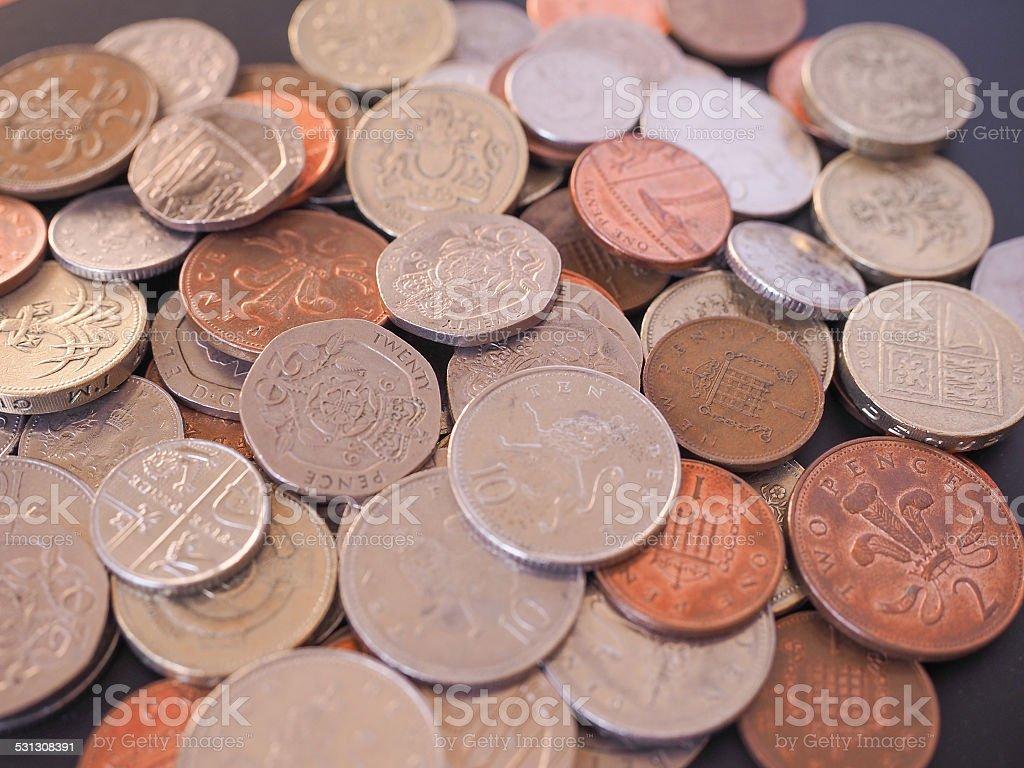 UK Pound coin stock photo