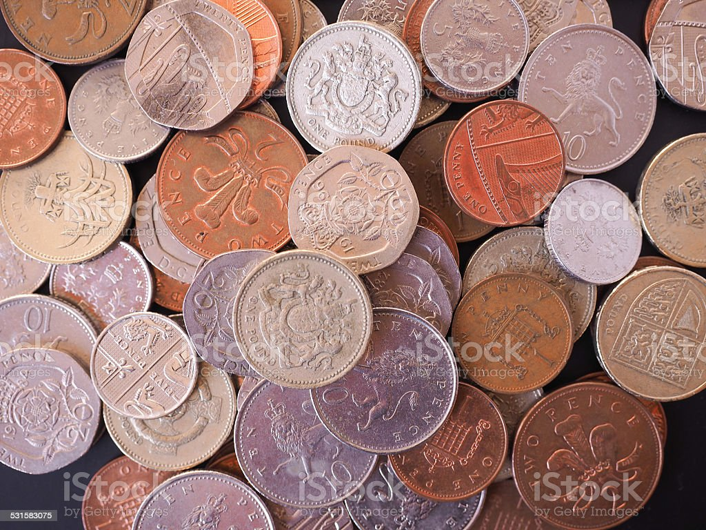 UK Pound coin stock photo