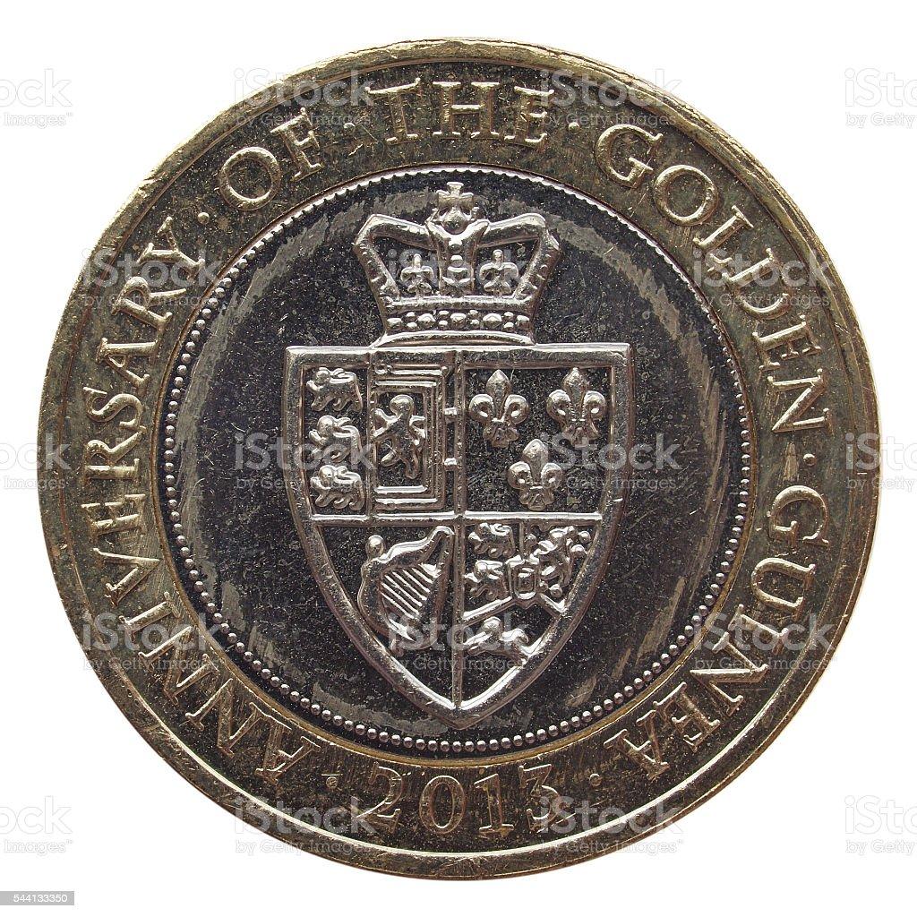2 Pound coin stock photo