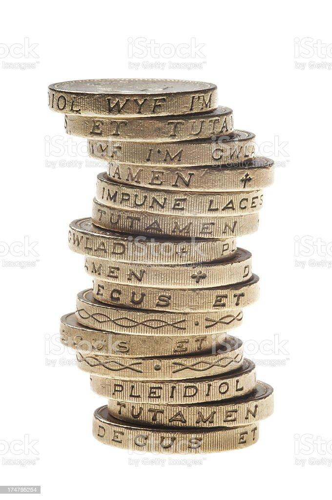 Pound coins royalty-free stock photo