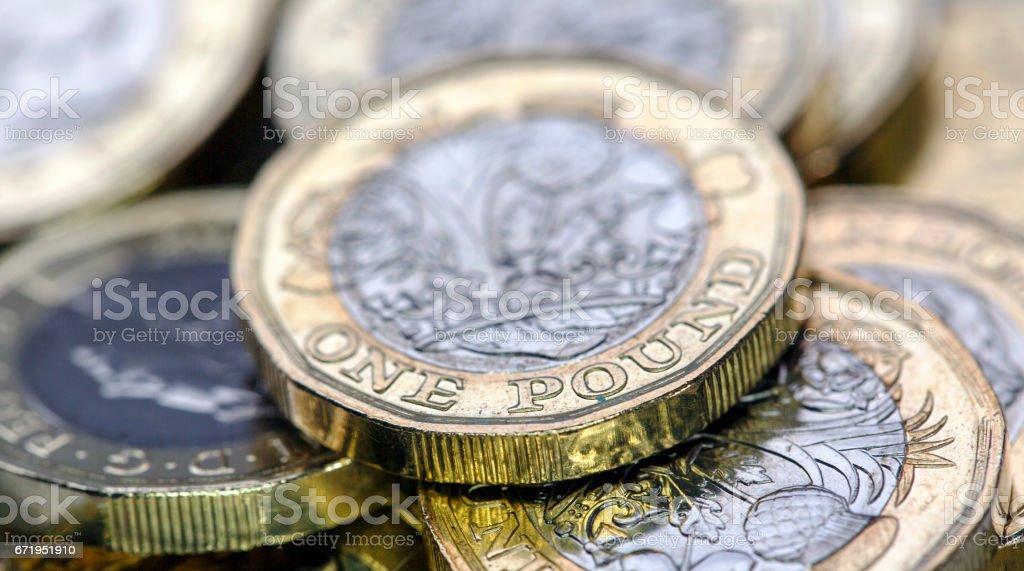 Pound Coins - UK stock photo