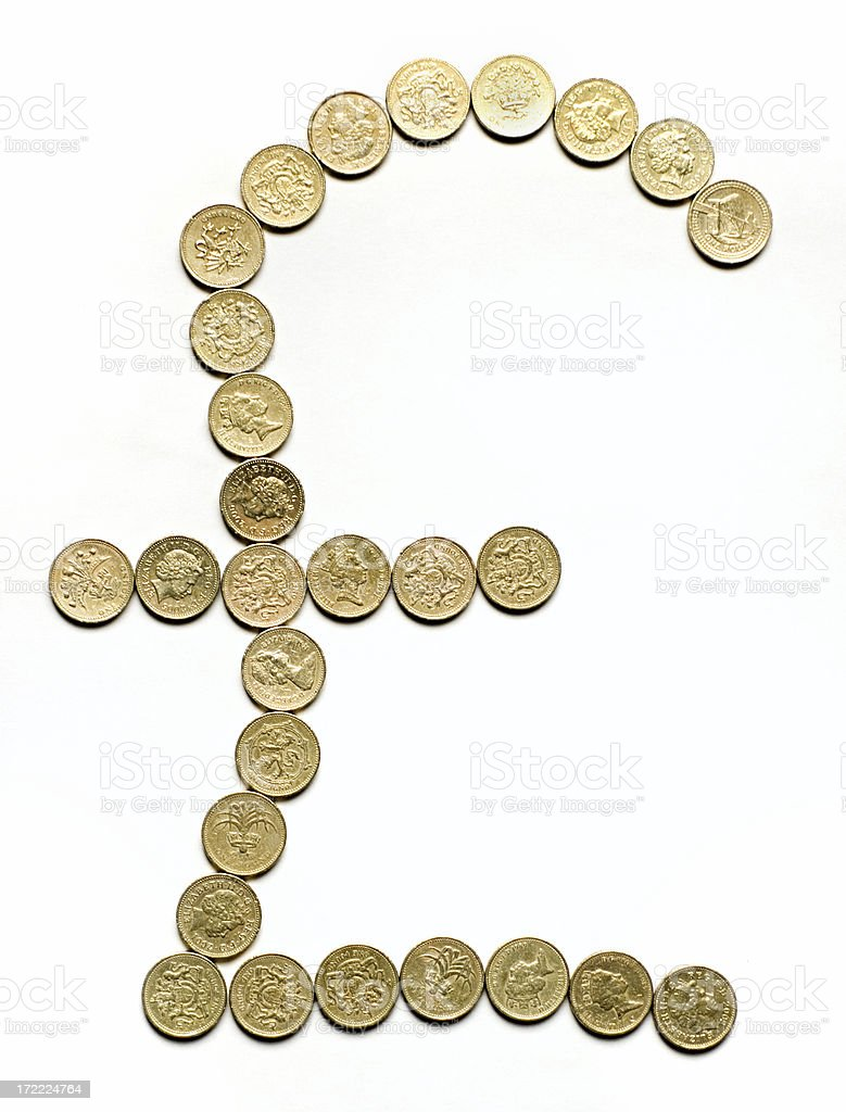 UK Pound Currency Sign royalty-free stock photo