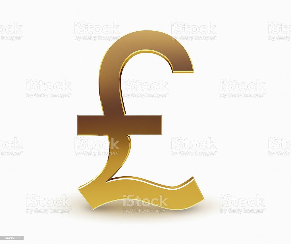 Pound Currency Symbol stock photo