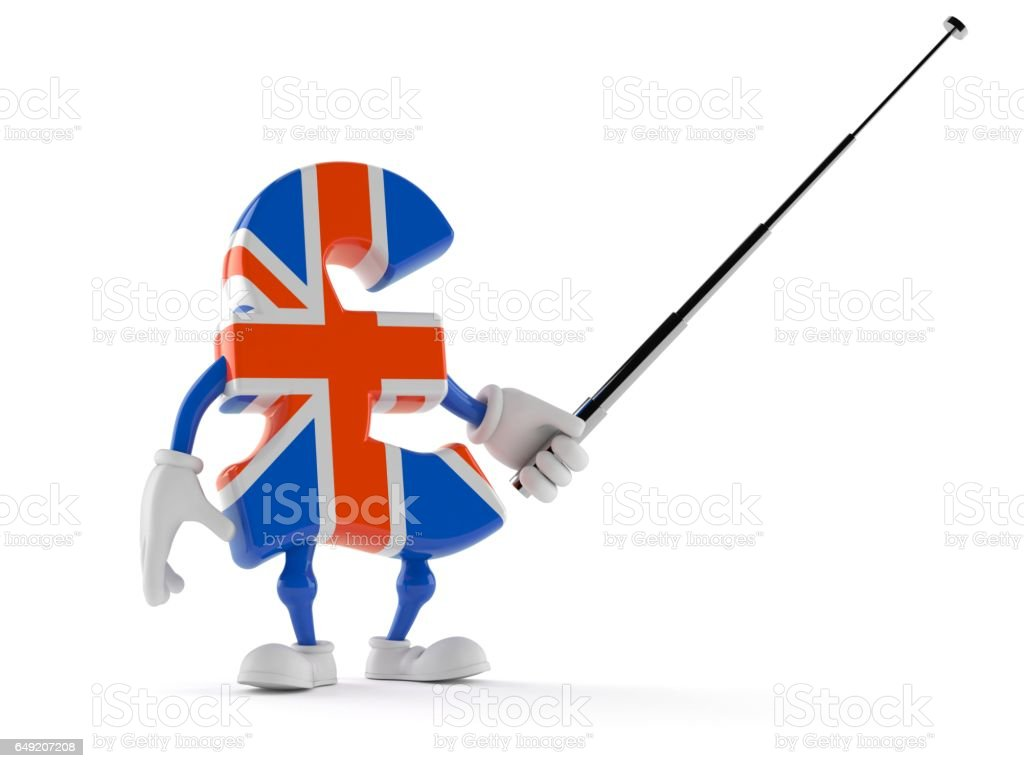 Pound currency toon stock photo