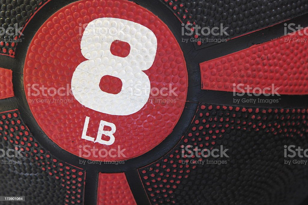 8 Pound Fitness Ball Exercise Weight stock photo