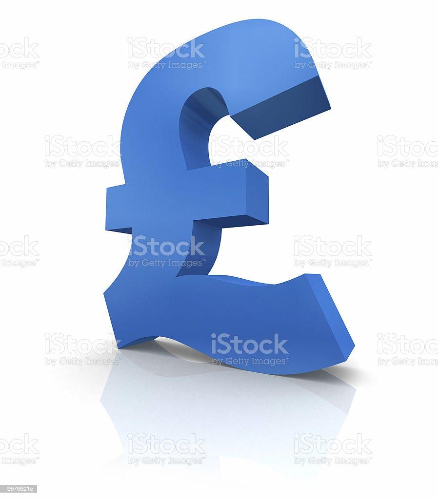 Pound icon royalty-free stock photo