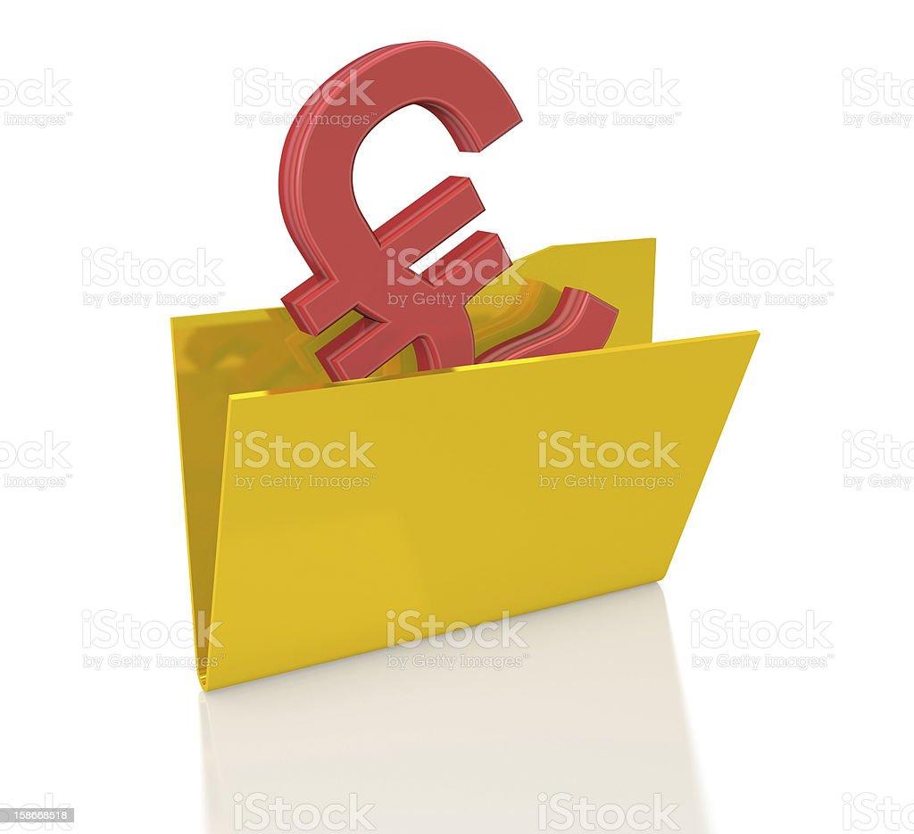 Pound in Folder royalty-free stock photo