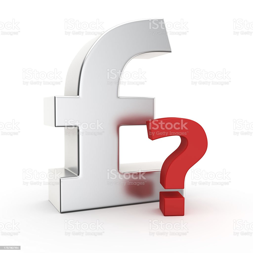 Pound in question royalty-free stock photo