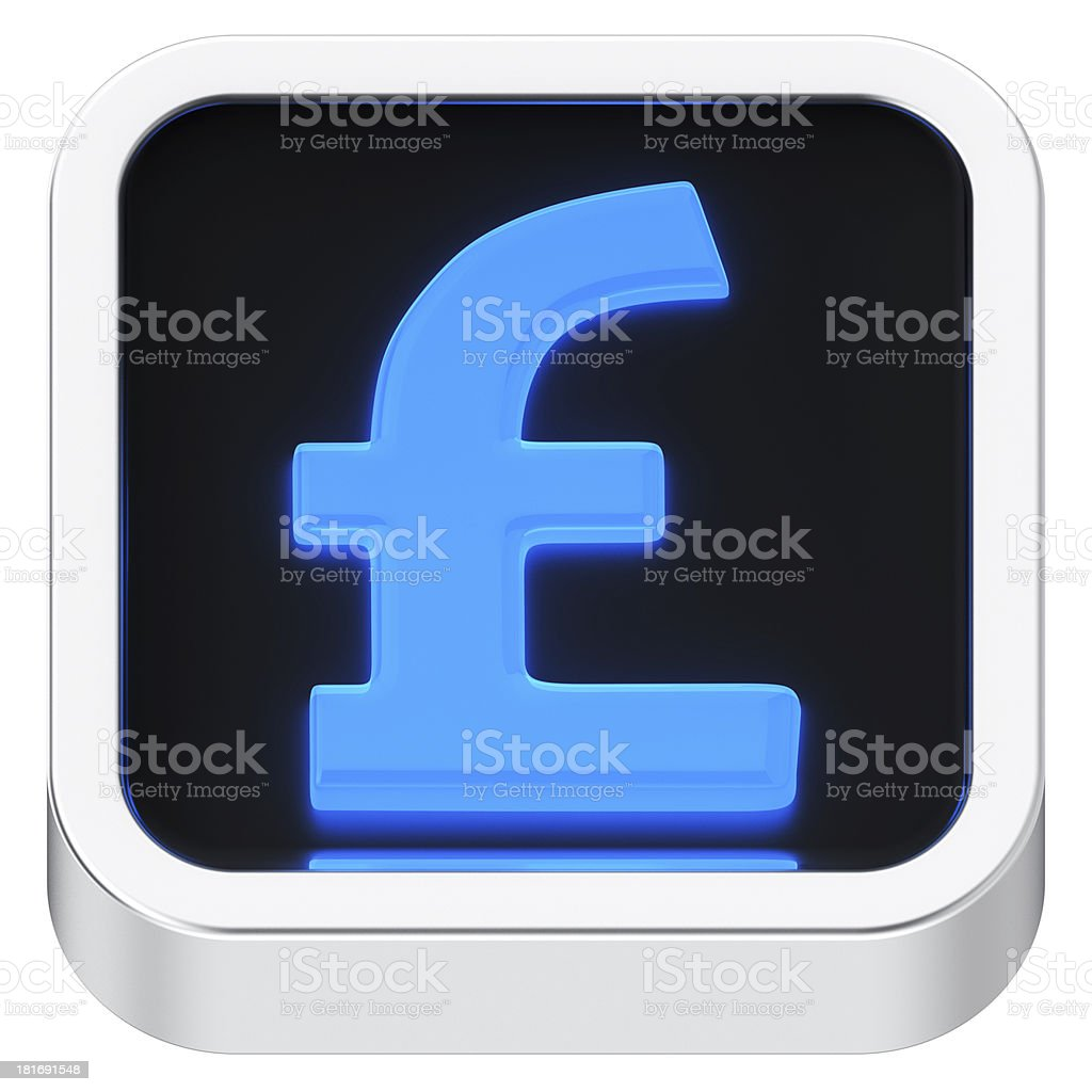 Pound luminous icon royalty-free stock photo