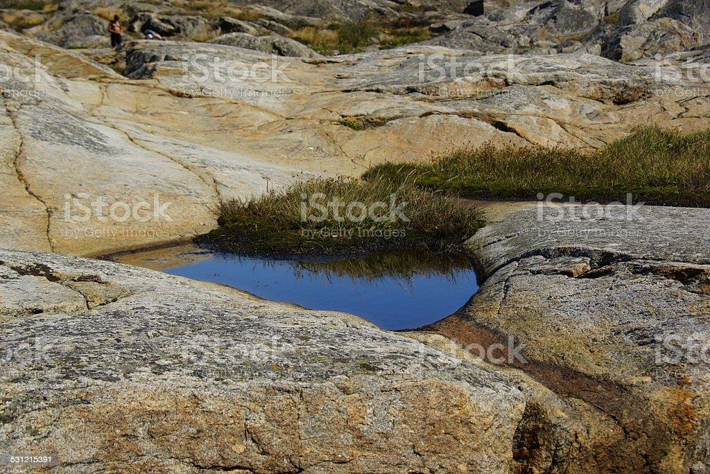 Pound of the rocks stock photo