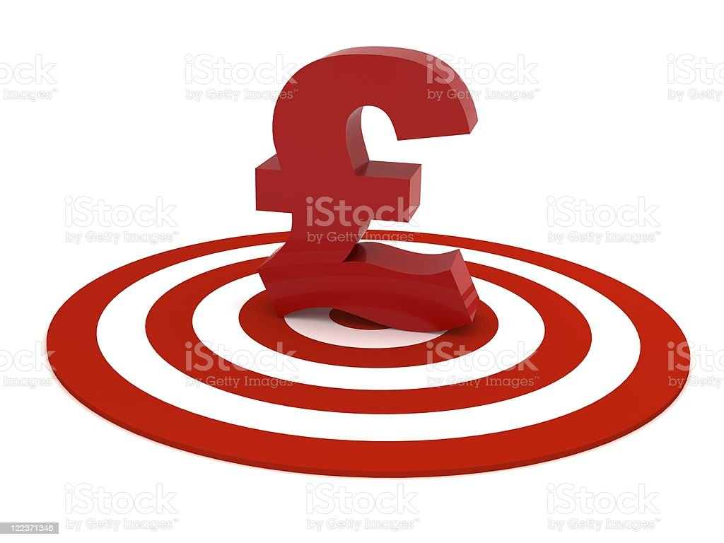 Pound on Target royalty-free stock photo