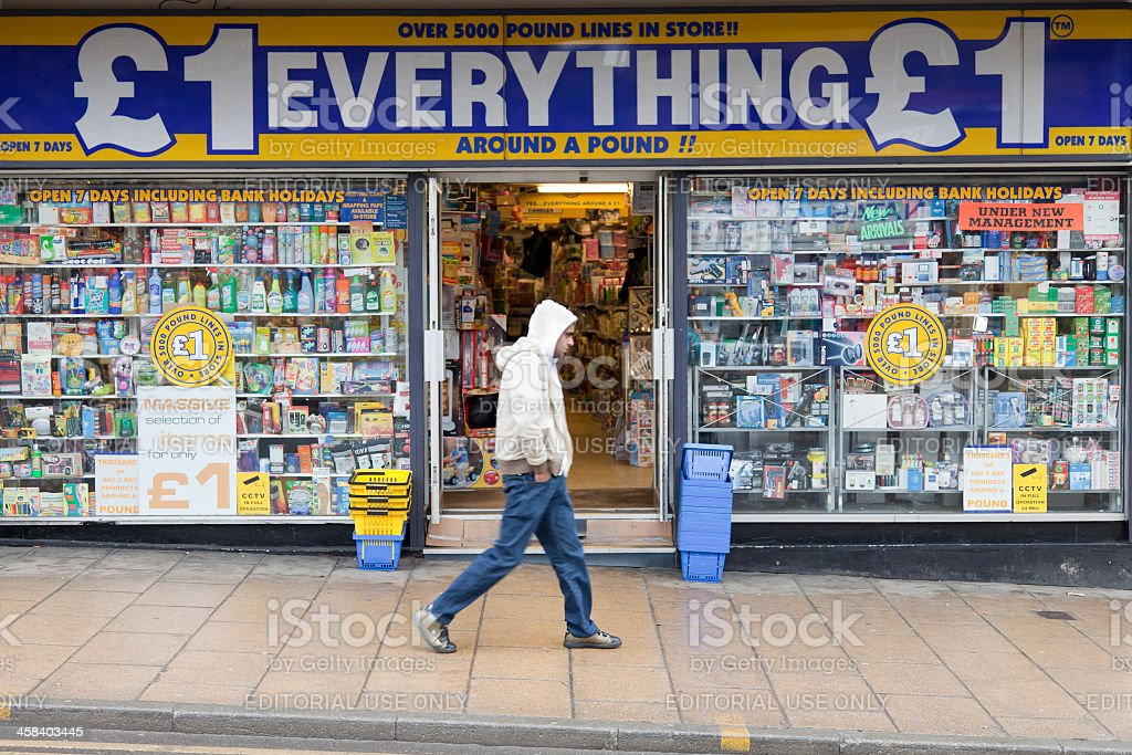 Pound shop stock photo