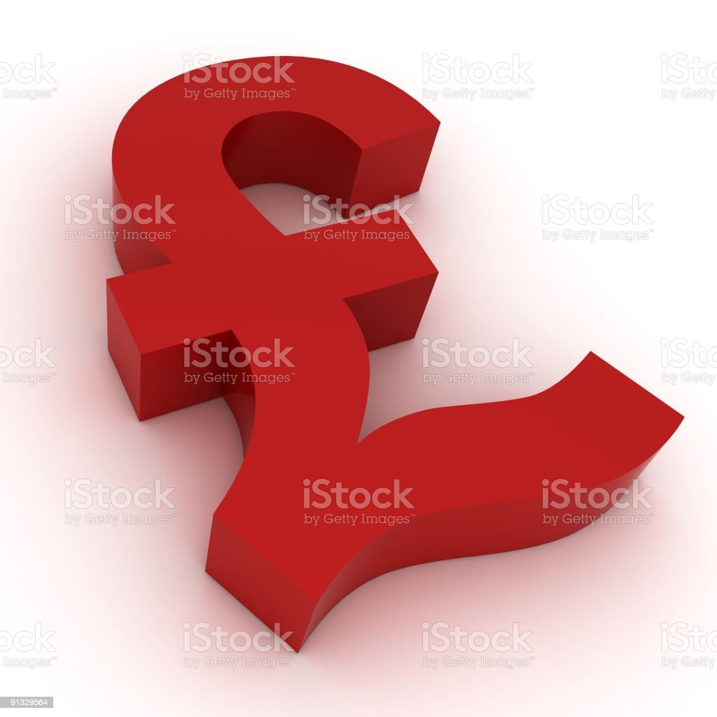 Pound Symbol royalty-free stock photo