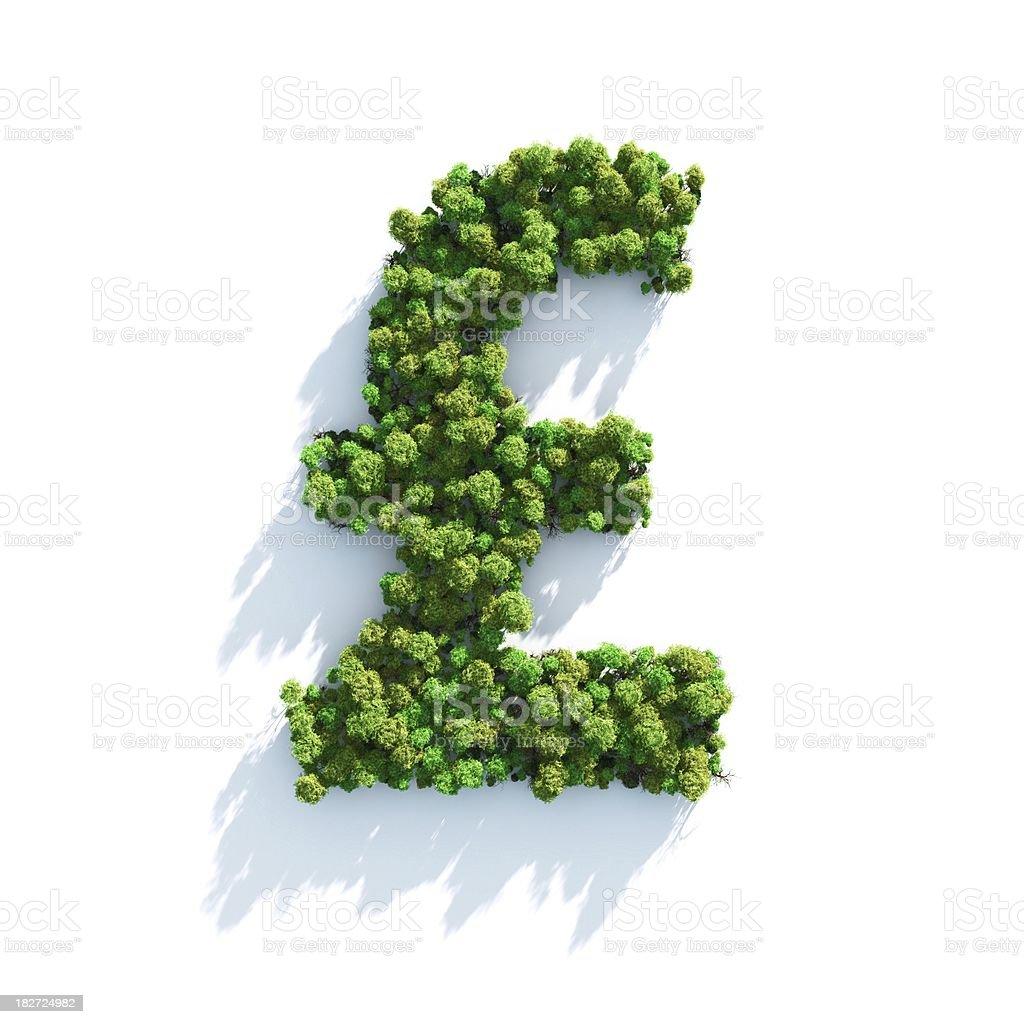Pound: Top View royalty-free stock photo