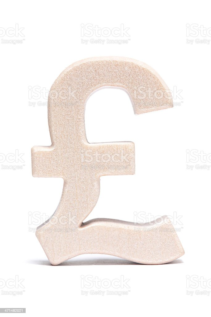 Pound, wood symbol royalty-free stock photo