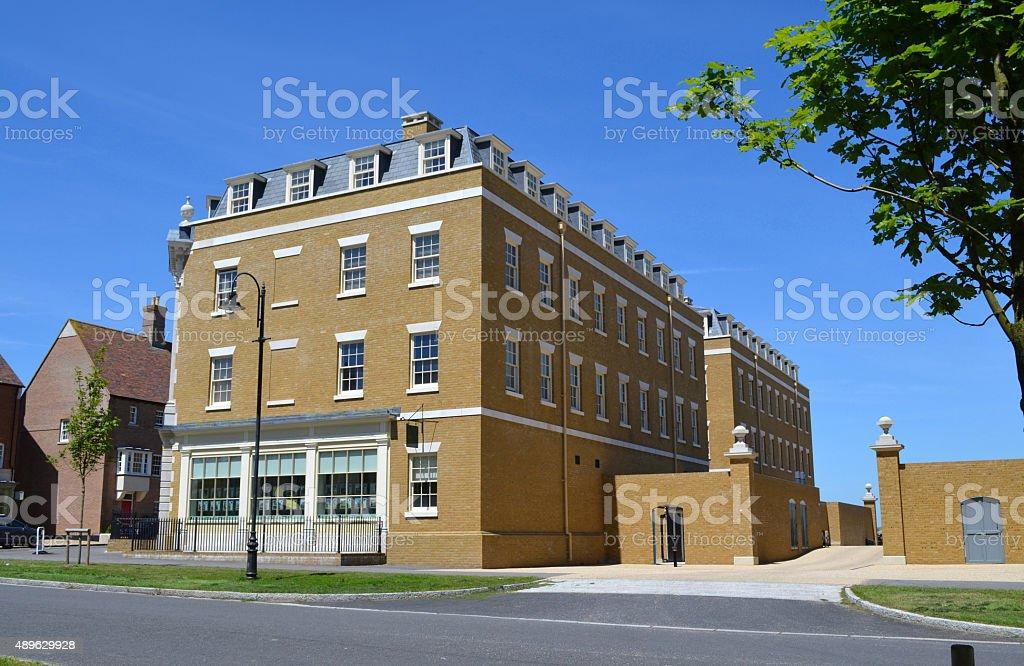 Poundbury Arch Point House royalty-free stock photo