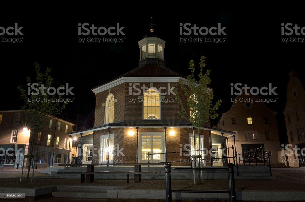 Poundbury Buttercross Night royalty-free stock photo
