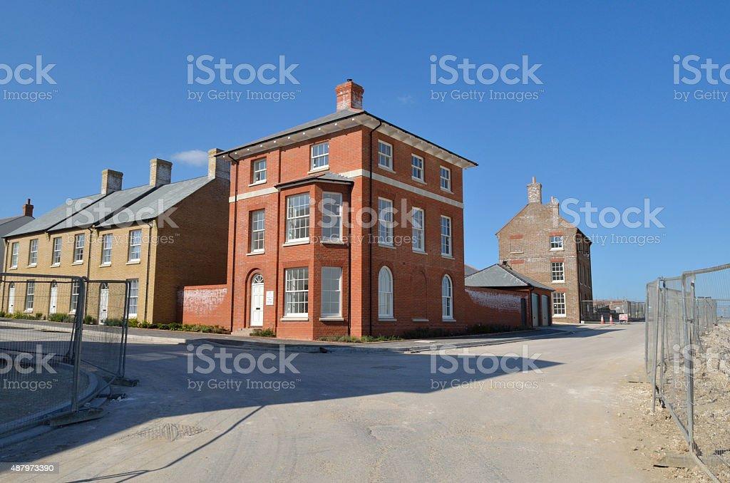 Poundbury Marsden Street construction royalty-free stock photo