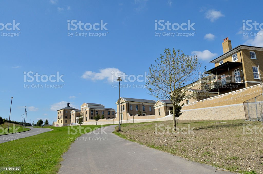Poundbury Middle Farm Way royalty-free stock photo