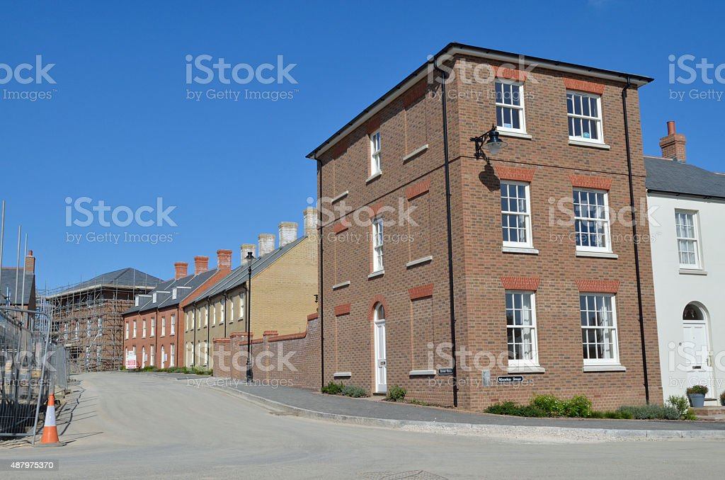 Poundbury Reeves Street construction royalty-free stock photo