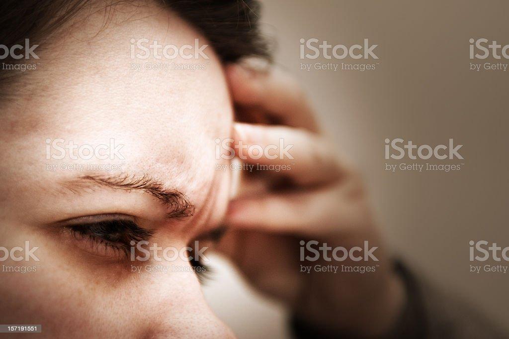 Pounding Headache stock photo