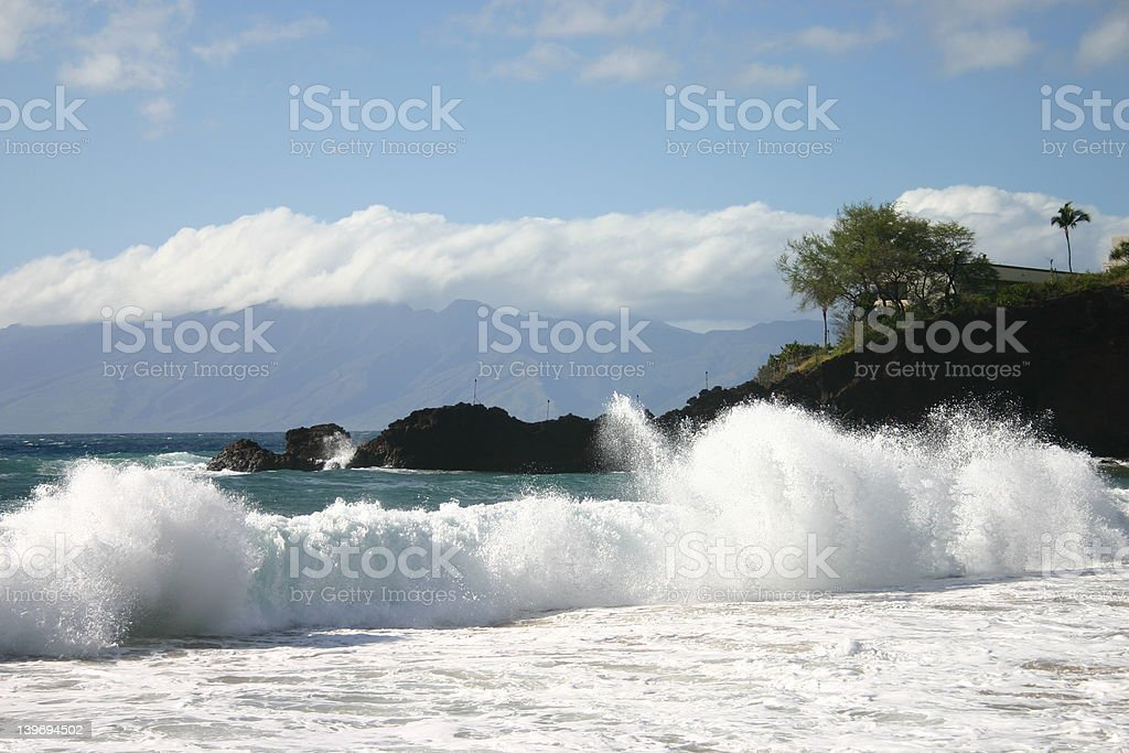 Pounding Surf royalty-free stock photo