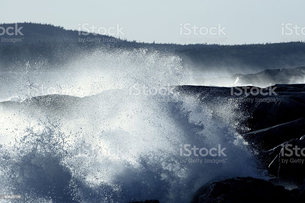 Pounding Surf royalty-free stock photo