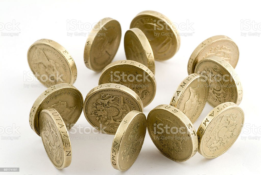 Pounds on the edge royalty-free stock photo