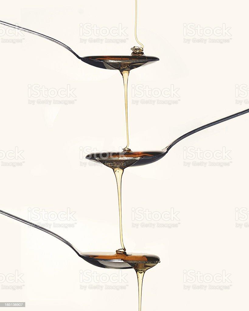 Pour Honey royalty-free stock photo