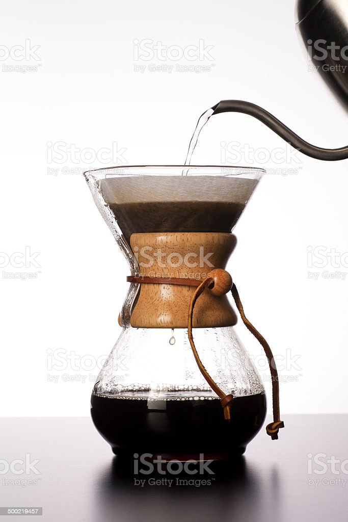 Pour Over Coffee Brewing stock photo