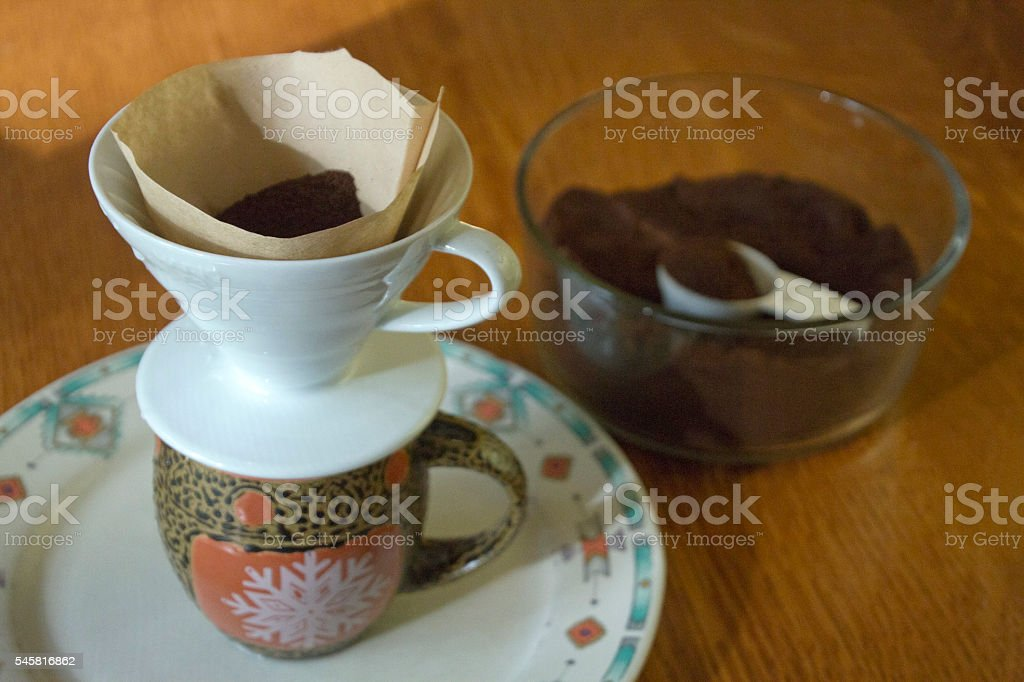 Pour Over Coffee Maker stock photo