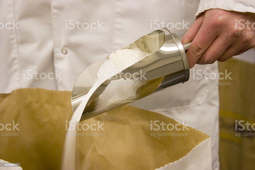 Pour powder royalty-free stock photo