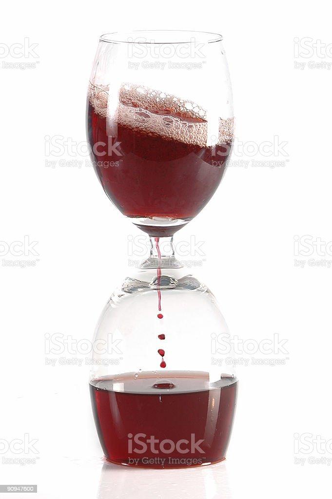 pour wine into glass stock photo