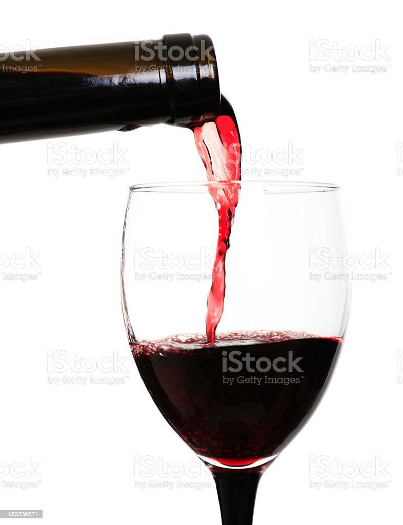 pour wine royalty-free stock photo