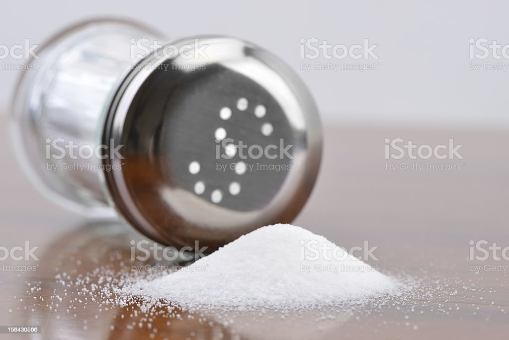 Poured out Salt stock photo
