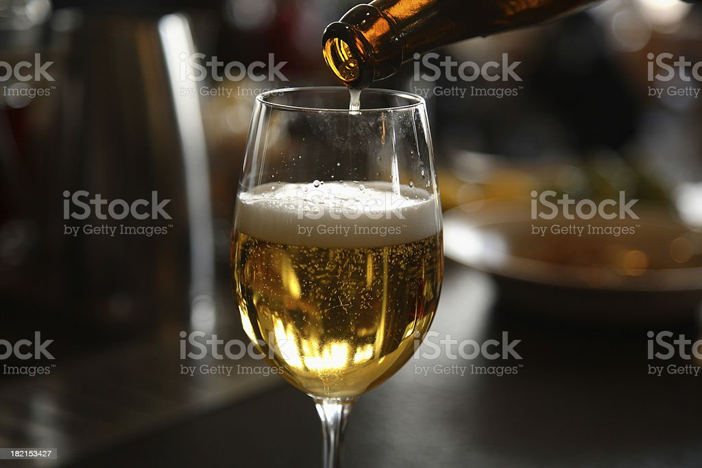 Pouring a Beer royalty-free stock photo