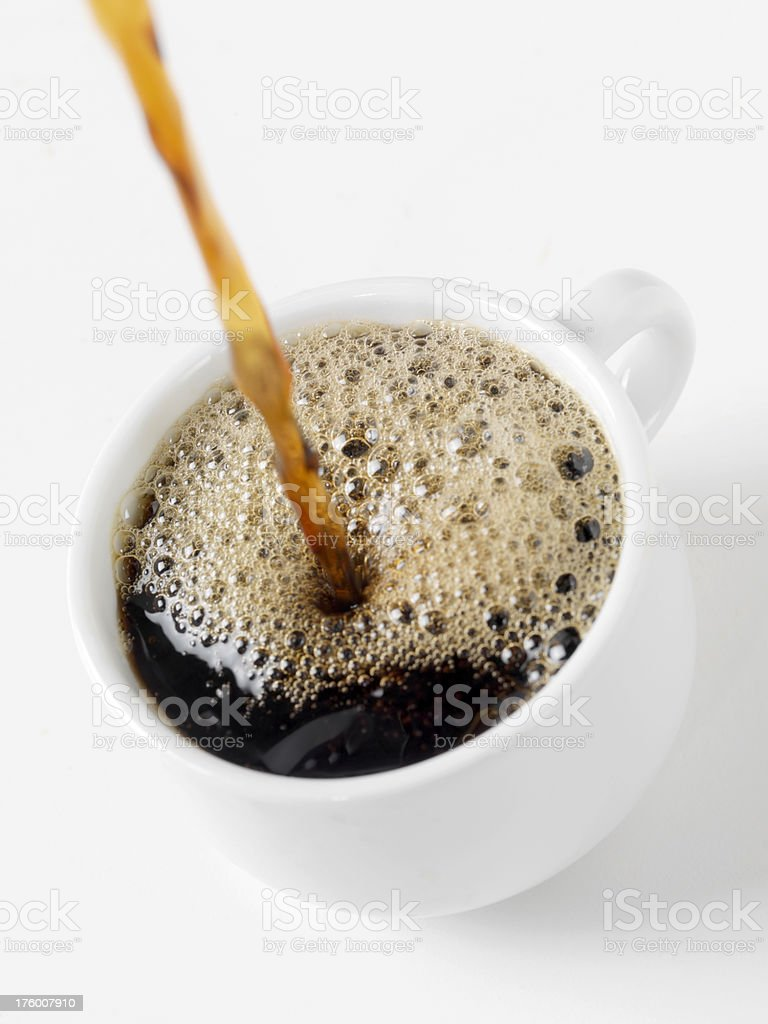 Pouring a Fresh Cup of Coffee stock photo