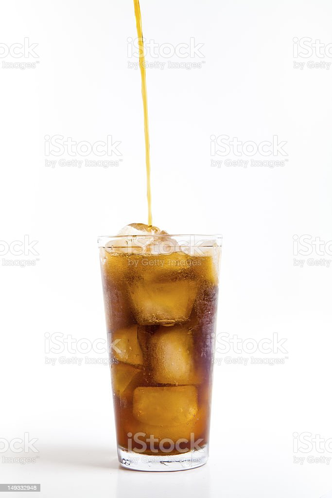 Pouring a Glass of Coca Cola royalty-free stock photo