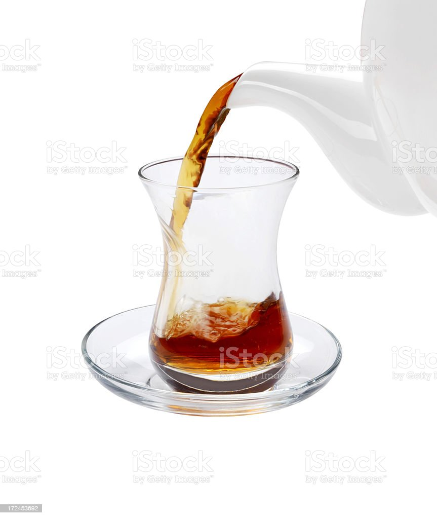 Pouring a Glass of Tea (Click for more) royalty-free stock photo