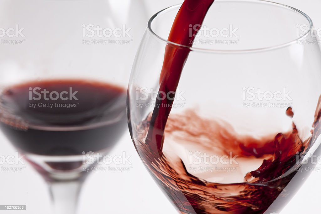 pouring a pair of drinks royalty-free stock photo