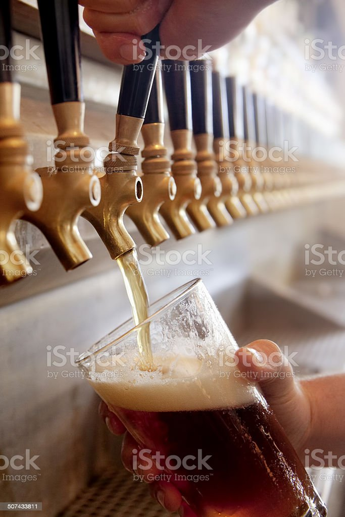 Pouring a Pint stock photo