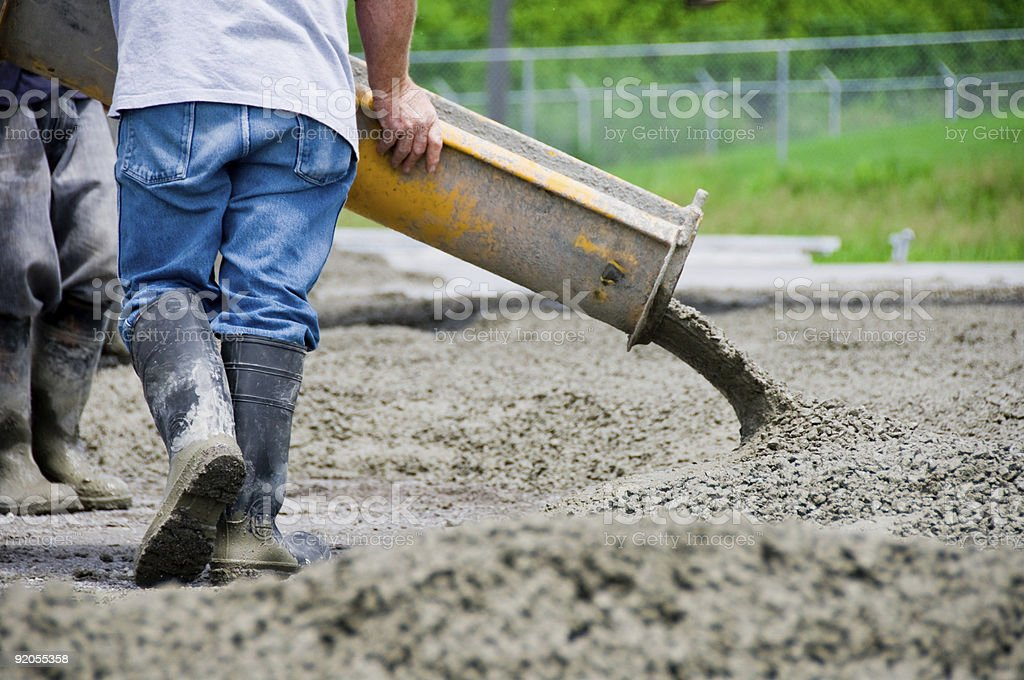 Pouring A Slab royalty-free stock photo