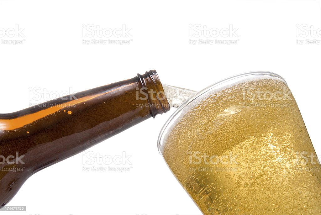 Pouring Beer stock photo