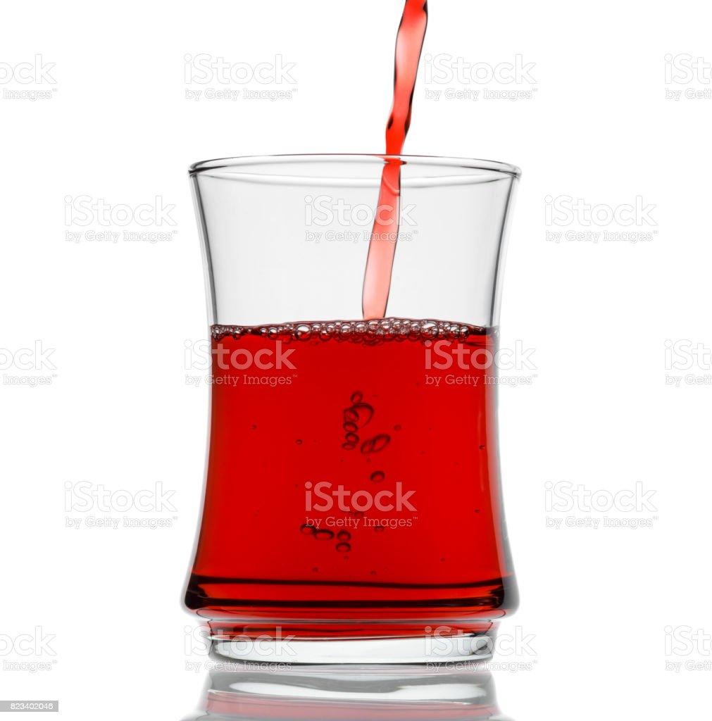 Pouring Black Tea Isolated stock photo