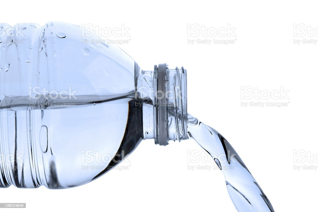 Pouring bottled water royalty-free stock photo