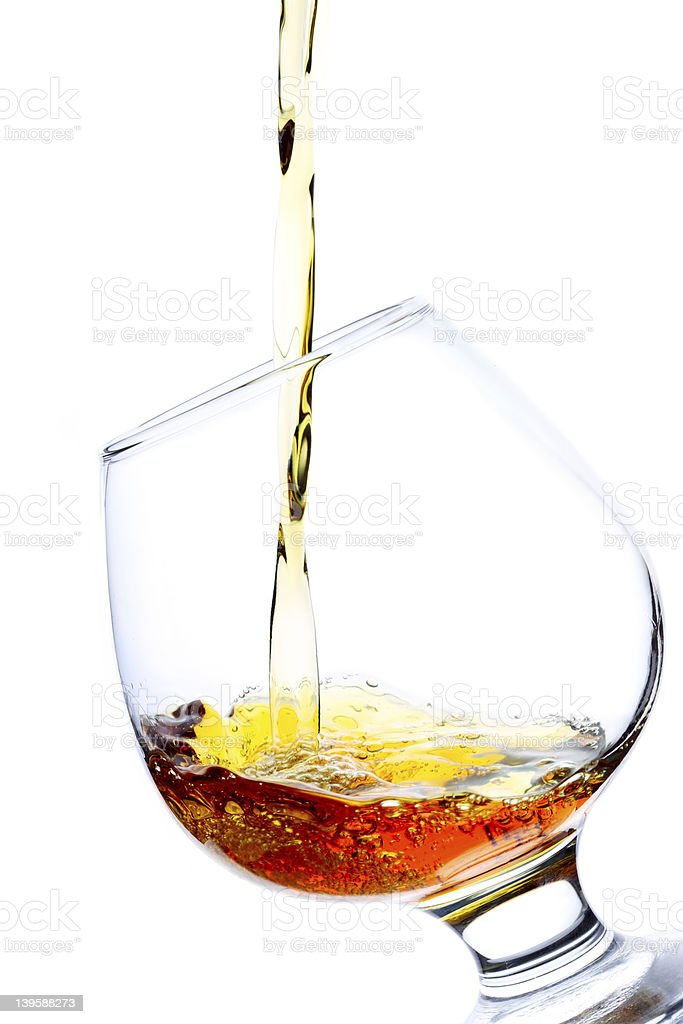 Pouring Brandy stock photo