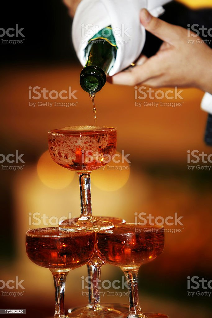 Pouring Champagne 01 royalty-free stock photo