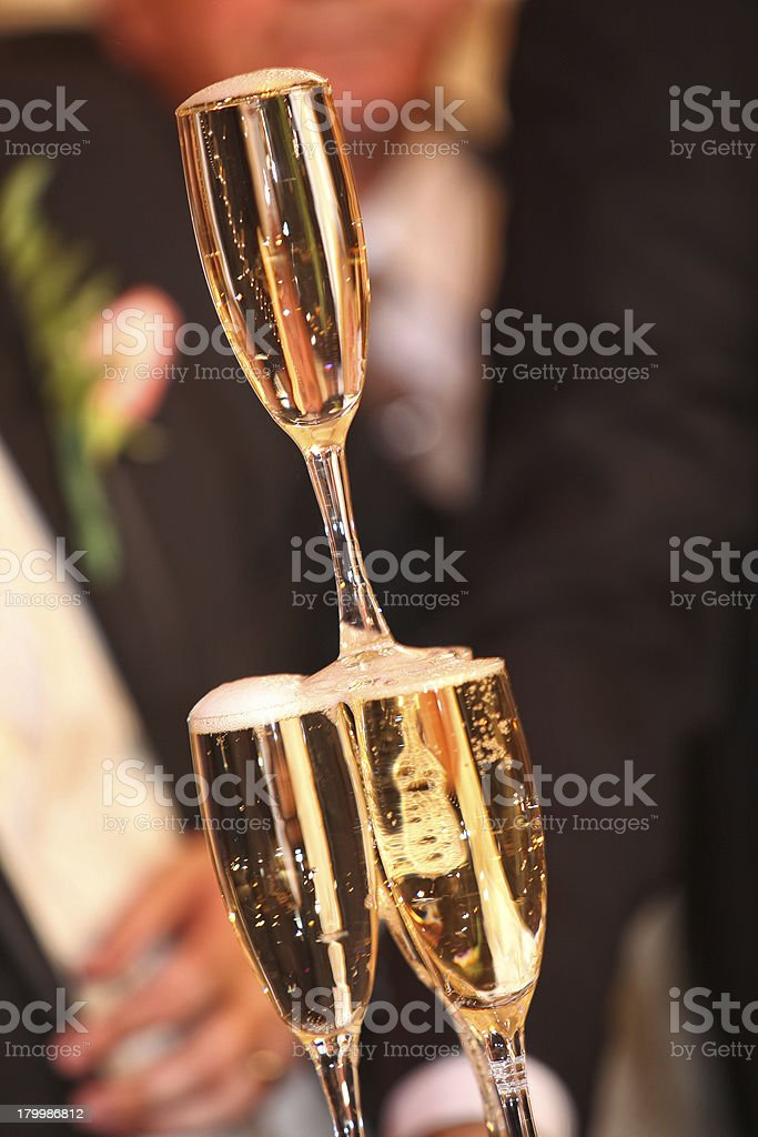 Pouring champagne i royalty-free stock photo